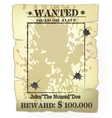 western wanted poster vector image vector image