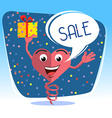 winter SALE flat style vector image vector image