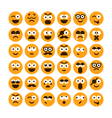 set of different smiling icons vector image