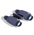 binoculars for approaching objects Isometric vector image