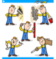 manual workers or workmen characters set vector image
