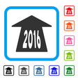 2016 future road framed icon vector image vector image