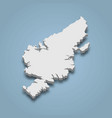 3d isometric map lewis and harris is an island vector image vector image