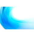 abstract background smooth blue curve and blend vector image vector image