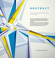 abstract geometric background modern style vector image vector image