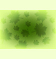 abstract green leaves shiny summer background vector image vector image