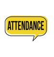 attendance speech bubble vector image