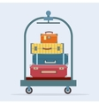 Baggage on trolley vector image