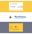beautiful light logo and business card vertical vector image