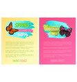 big spring discount labels on posters butterflies vector image vector image