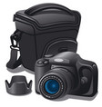 camera and case vector image vector image