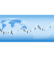 candlestick graph background vector image vector image