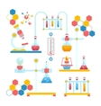 Chemistry infographics composition vector image vector image