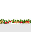 christmas border white background vector image vector image