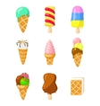 Collection of 12 ice cream vector image vector image