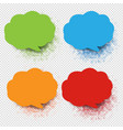 colorful speech bubble collection with vector image