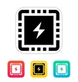 CPU Power icon vector image