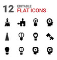 creativity icons vector image vector image