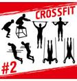 crossfit concept vector image vector image