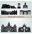 Edinburgh landmarks and monuments vector image vector image