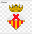 emblem of lhospitalet city of spain vector image vector image