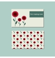 Floral template for business card vector image vector image