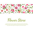 flower store banner template with beautiful vector image