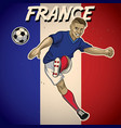 france soccer player with flag background vector image vector image