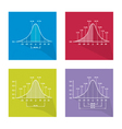 Gaussian Bell or Normal Distribution Curve vector image vector image