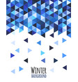 geometric mosaic pattern from blue triangle vector image vector image