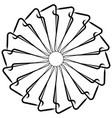 geometric spiral abstract circular mandala vector image