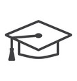 graduation cap line icon education and knowledge vector image vector image