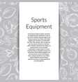 hand drawn sports equipment background vector image vector image