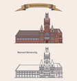 harvard university building for education vector image vector image