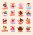 icons bakery cakes confectionery desserts vector image vector image