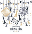 international chess day is celebrated annually on vector image