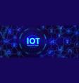 iot technology digital banner for internet vector image