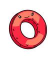 kawaii cute swimming ring vector image