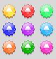 Kitchen hood icon sign Symbols on nine wavy vector image vector image
