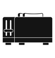 kitchen toaster icon simple style vector image