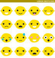 lemon emoticons vector image vector image
