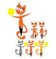 little ginger cat like gymnast vector image vector image