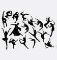 modern and ballerina dance silhouette vector image