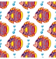 pattern with fishes vector image vector image