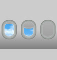 portholes airplane vector image