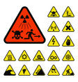 prohibition signs industry production vector image