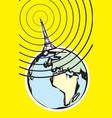 Radio Broadcast Earth vector image vector image