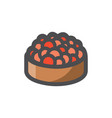 red caviar can icon cartoon vector image