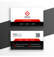 red elegant corporate business card design vector image vector image