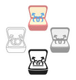 ring icon cartoonblack single gay icon from the vector image